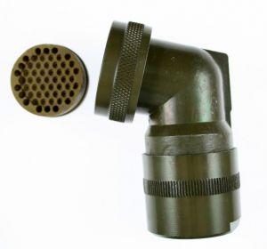 05-2060-22-55 MIL-DTL-26482 Series I Angled 75 Degree  EMI/RFI Adapter 360 Degree