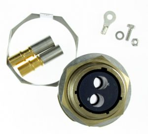 508/1/37669/101 AB Pattern 608 Jam Nut Receptacle 2-Way Female Sockets Solder Bucket Contacts