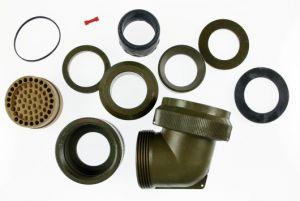 05-0467-24-61 MIL-DTL-26482 Series I Angled 75 Degree  EMI/RFI Adapter 360 Degree