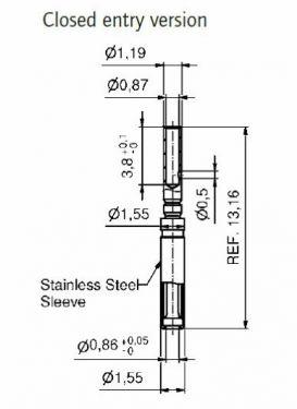 16-000691 D-Sub High density Signal crimp contact, Size-22