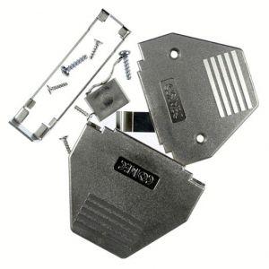 165X11389X D-Sub Metallized Plastic Hood with slide lock shell Size 37