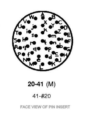 PVX0-20-41PN 41-Way Receptacle Crimp Contacts
