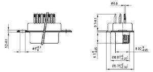 242A-11650X D-Sub Receptacle C-Filter 1300 pF Size 9
