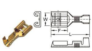 503LT KS Terminal Tab Female 6.35mm