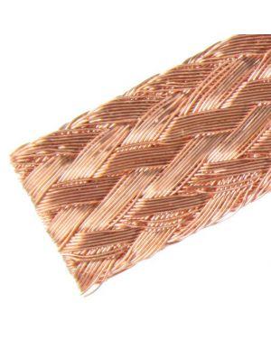 DTL-FLB-2-200-550 Flat Copper Braid 200mm(sq) 50mm X 10mm 0.2 Wire, 550 Amps