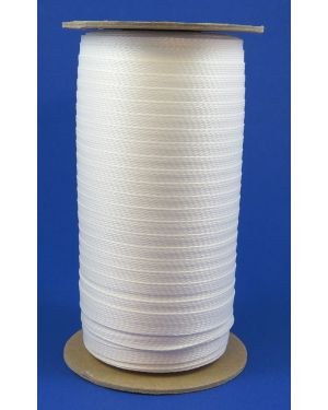 DHS00W Flat Braided Polyester Tape, Heat Shrinkable