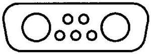 3007W2SAM99A10X Conec D-Sub 7W2 Crimp Receptacle