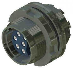508/1/07062/220 Fixed Plug Round Flange 4-Way
