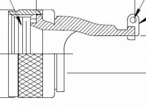 GTR1054G-17N Glenair  MIL-DTL-38999 Series III Straight Qwik-ty adapter with grounding tab