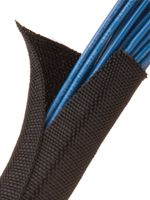 F6W0.38BK Techflex  Woven Split Tubular Harness Wrap