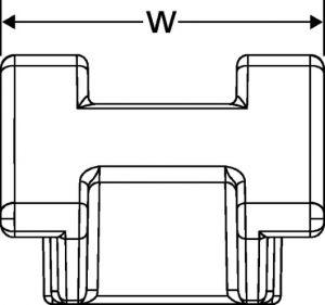 151-29403 Hellermann Tyton S2HM25 Two way cable tie saddle mount,