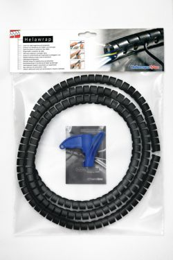 161-64204 HELLERMANN Helawrap Cable Cover HWPP16L2 Black 16mm